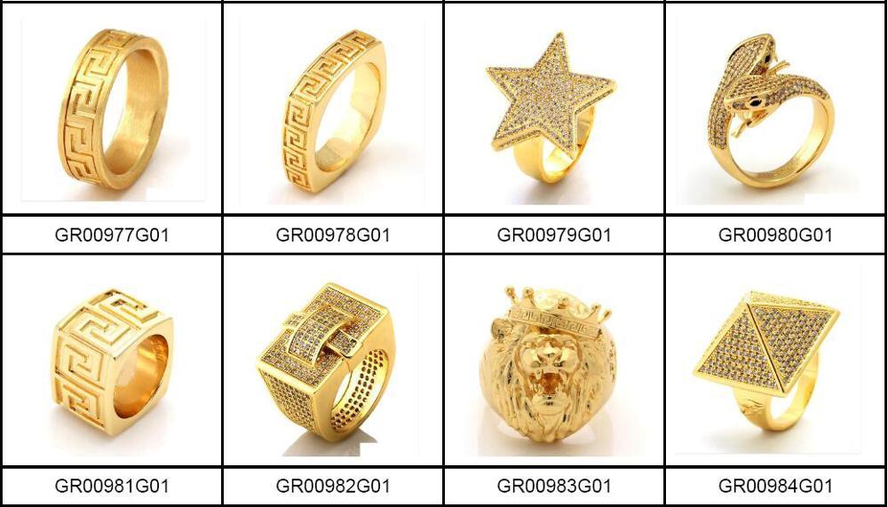 Simple Model Saudi Gold Men Rings Jewelry Wholesale Thailand Buy