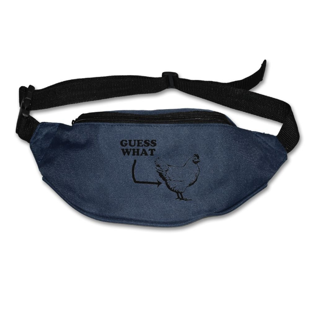 80c21548e069 Get Quotations · Unisex Pockets Guess What-Chicken Butt Fanny Pack Waist    Bum Bag Adjustable Belt Bags