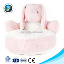 New easter gift stuffed plush animal shaped sofa chair cute custom logo soft plush toy pink bunny kids soft chair