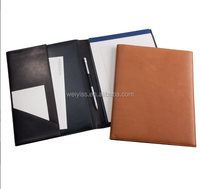 2019 hot sale custom portfolio leather office file organizer with logo embossed