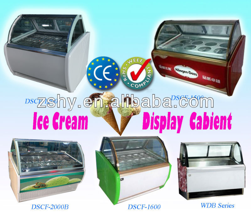 ice cream display freezer with 4.5 liters pans