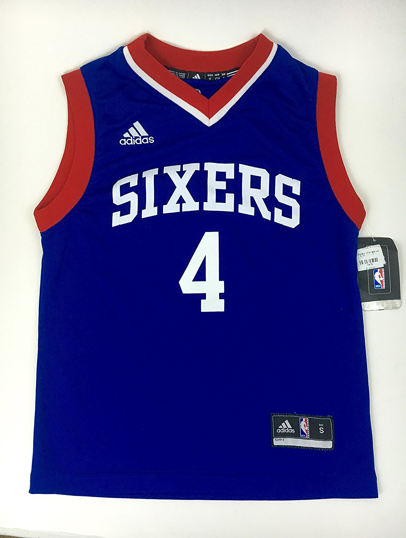 Adidas NBA Philadelphia 76ers Nerlens Noel #4 Blue Travel Jersey , Official NBA Licensed Merchandise