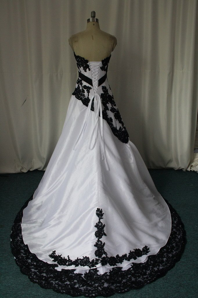 negro de encaje con aplicaciones,nueva novia vestido de novia blanco