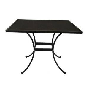 Patio Table,Patio Dining Tables,Caledonia Rectangular Wrought Iron,Metal Outdoor Dining Table