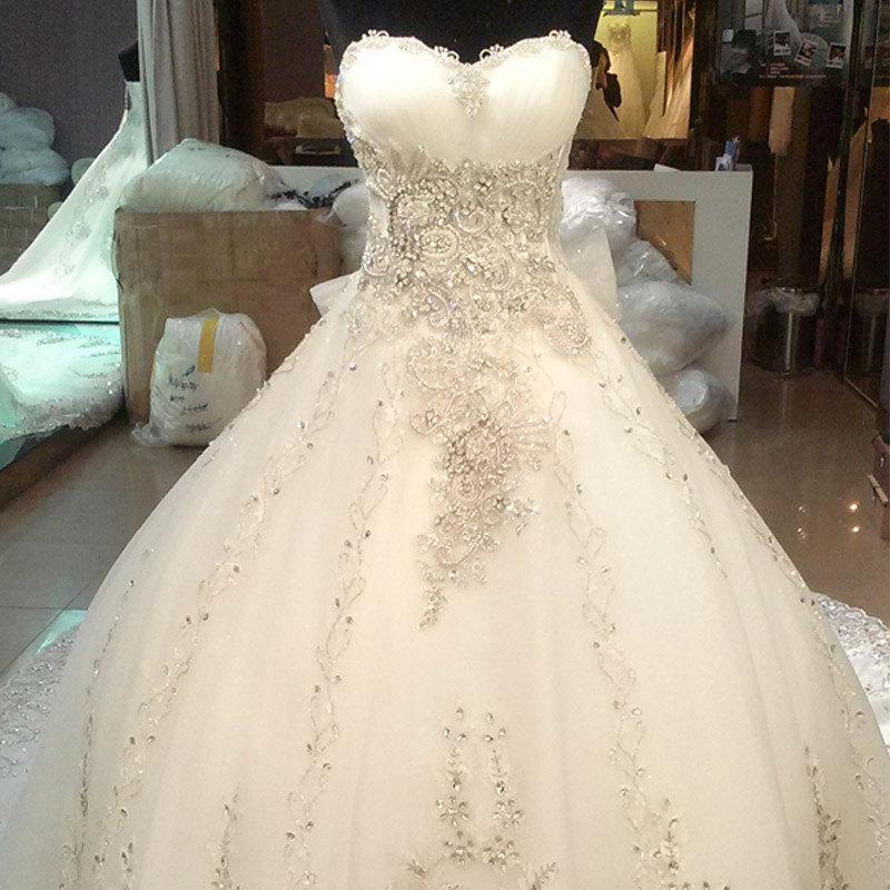 New Design Czech Jewel Wedding Dresses 2017 For Fat Woman