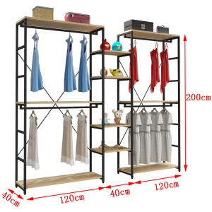 KaiYang Tope Grade Clothes Store Display Racks Clothing Rack Size Divider 4 Way Clothing Display Rack with printing