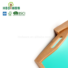 High quality bamboo serving tray bamboo breakfast tray wooden food tray
