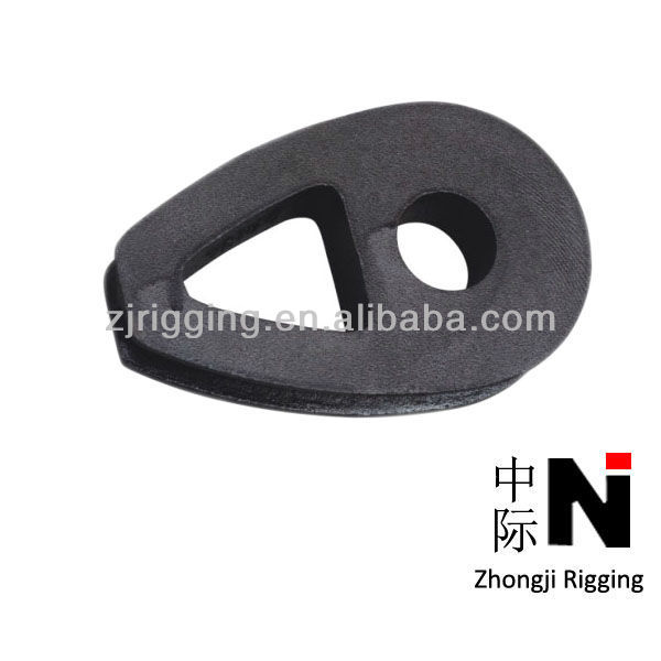 8mm~48mm Ductile Iron Malleable Wire Cable Rope Thimbles Manufacturers