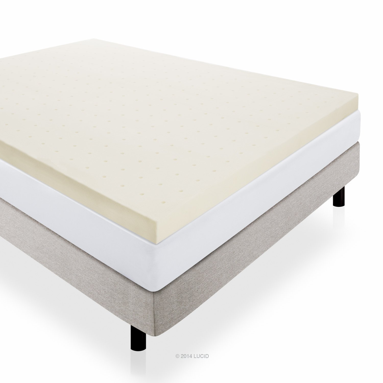 buy lucid 4 inch memory foam mattress topper 3-year warranty - queen