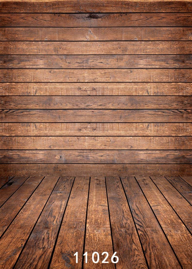 WOLADA 5x7ft Wood Backdrops for Photographers Vintage Wooden Wall Photo Backdrop Photography Props 11026
