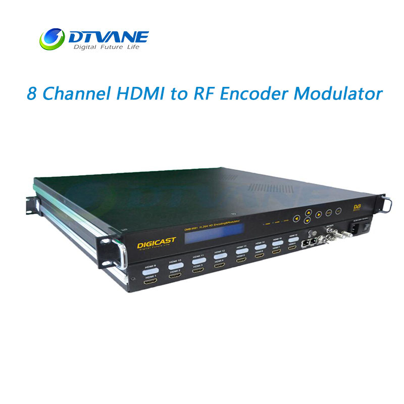 HDMI to RF H.264 HD Encoder Modulator Video DVB-T/C Modulator