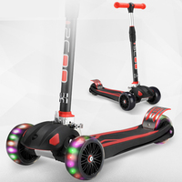 Perfect Design 3 Wheel Kids Kick Scooter Foldable Design, Adjustable Handles & Lightweight Construction
