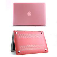 Logo cutout Matte plastic protective Case For Apple macbook Air Pro white Retina 11 12 13 15 laptop bag For Mac book 13.3 inch