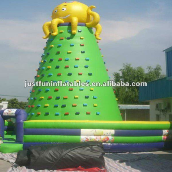 Octopus inflatable climing wall rock