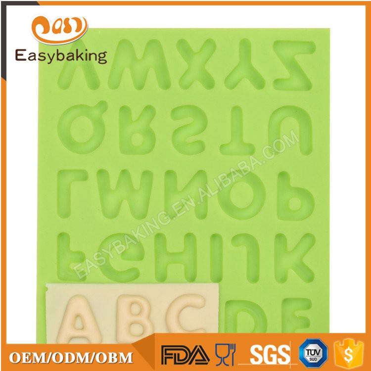ES-6013C Alphabet Fondant Mould Silicone Molds for Cake Decorating