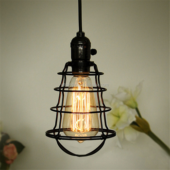 Industrial retro metal wire light bulb guard vintage black bird cage industrial retro metal wire light bulb guard vintage black bird cage shade for pendant light keyboard keysfo Choice Image