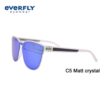 2019 New style Made In China High Quality Custom Mirror Fashionable Tr90 Sunglasses