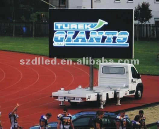 trolley advertising display board super bright led display car digital outdoor led display board