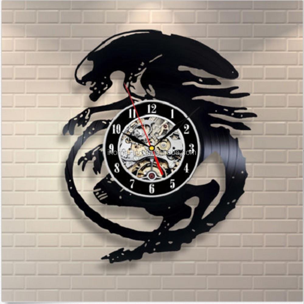 Home Goods Clocks: Home Goods Vinyl Dragon Desgin Wall Clocks For Sale(t5590