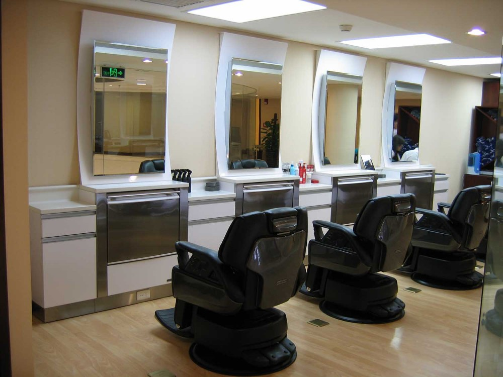 Modern luxury salon mirror console luxury salon furniture for Console salon