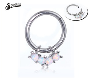 Hinged Segment Ring 4 Sizes 6 colors Piercing body jewelry Nose Septum Lip Nipple Tragus Cartilage Ring