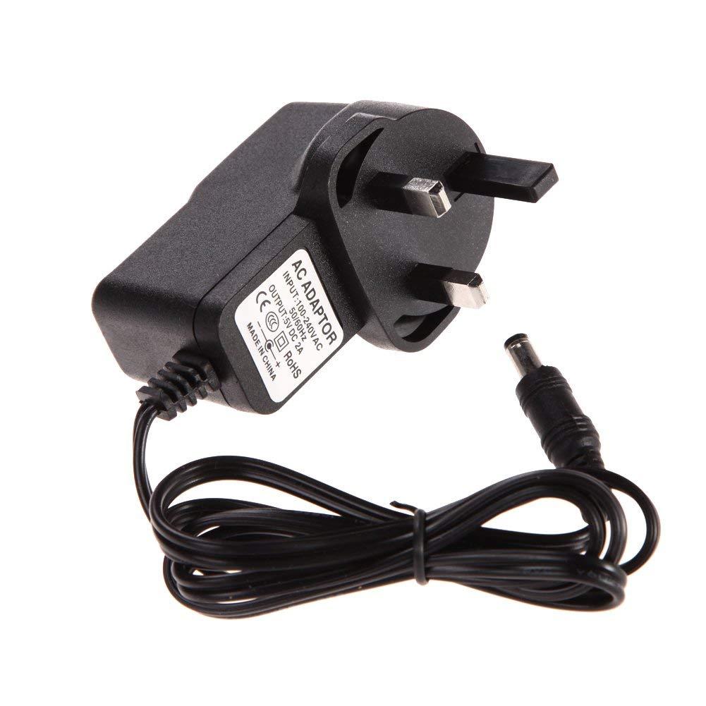 ERTIANANG Universal AC 100-240V Converter Adapter DC 5.5mm x 2.5MM 5V 2A 2000mA Charger UK Plug