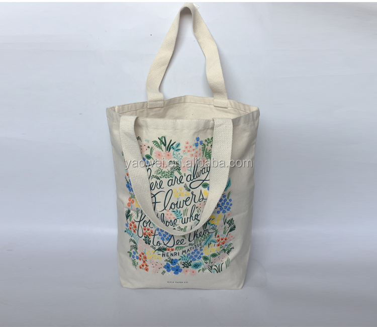new style fashion pretty 12oz cotton canvas sublimation beach bag, hand bags tote bag