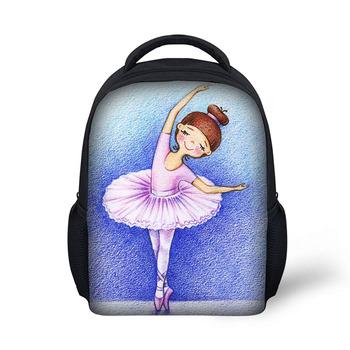 6a0e1fd05fb1 Прекрасные танцы Рисунок, нанесенный детский сад детей школьные сумки  детские рюкзаки для девочек