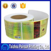 Self adhesive return address labels roll