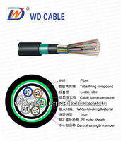 Top ! Stranded Loose Tube Armored 48 core optical fiber Cable gyty53