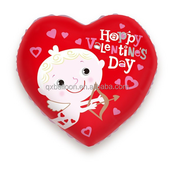 Inflatable heart shape balloon foil