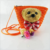 Cute Teddy Bear Lady Rattan Straw Crossbody Bag Small Shoulder Bag