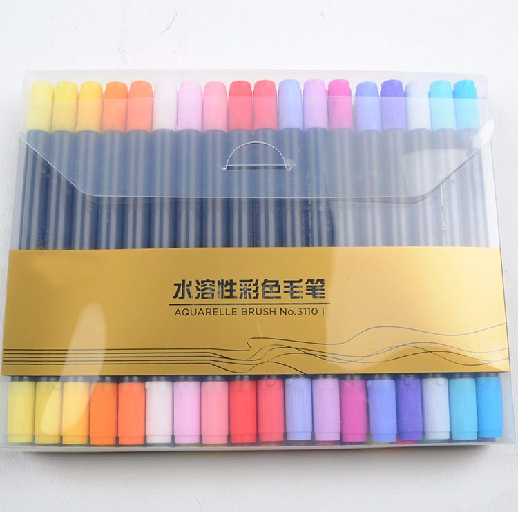 36 Colors 0.8mm-2mm Art Markers Dual Tips Coloring Brush Pen For Adult  Coloring Books - Buy Markers Dual Tips Coloring Brush Pen,Dual Tip Brush ...