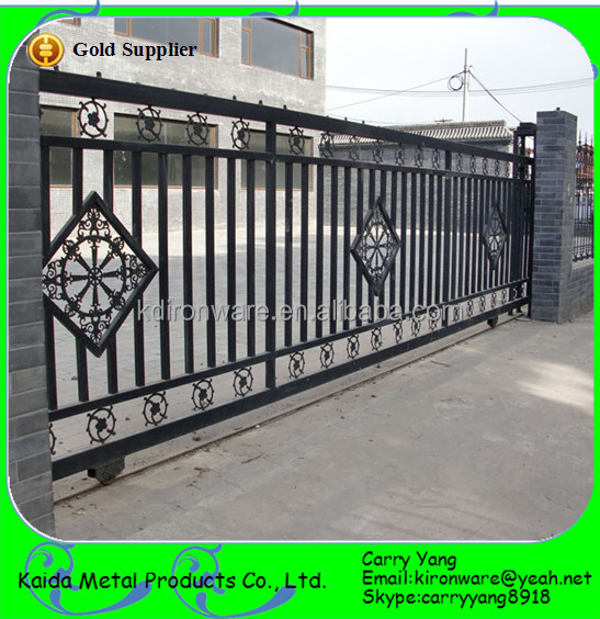 New wrought iron sliding main gate designs buy