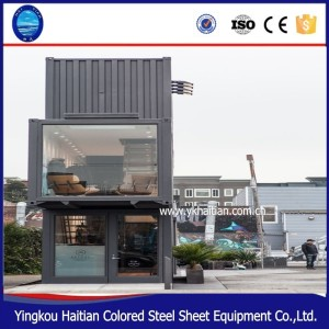 prefab wooden shopping store pop-up mobile container steel warehouse
