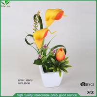 new arrivals artificial PU flower arrangements with tulip,calla lily for decoration