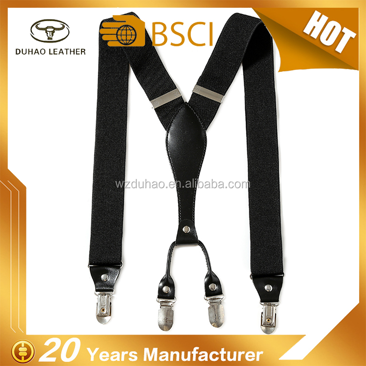 Men's Elastic Polyester Suspenders Adult's Adjustable Braces