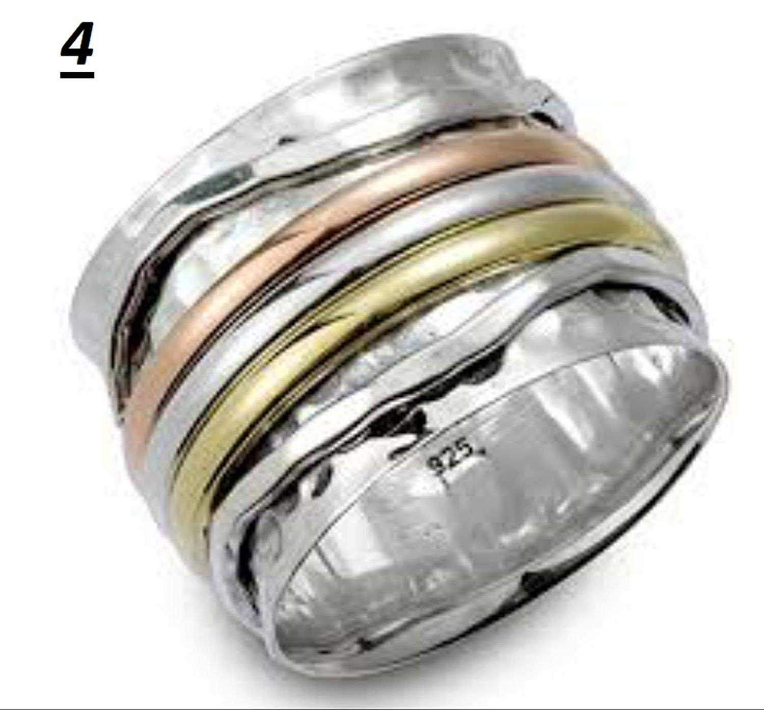 JewelsExporter Spinner Ring,Sterling Silver mm Ring,All Sterling Silver, Chunky Silver Thumb Ring, Unisex Silver Thumb Ring, Stress Ring 12US