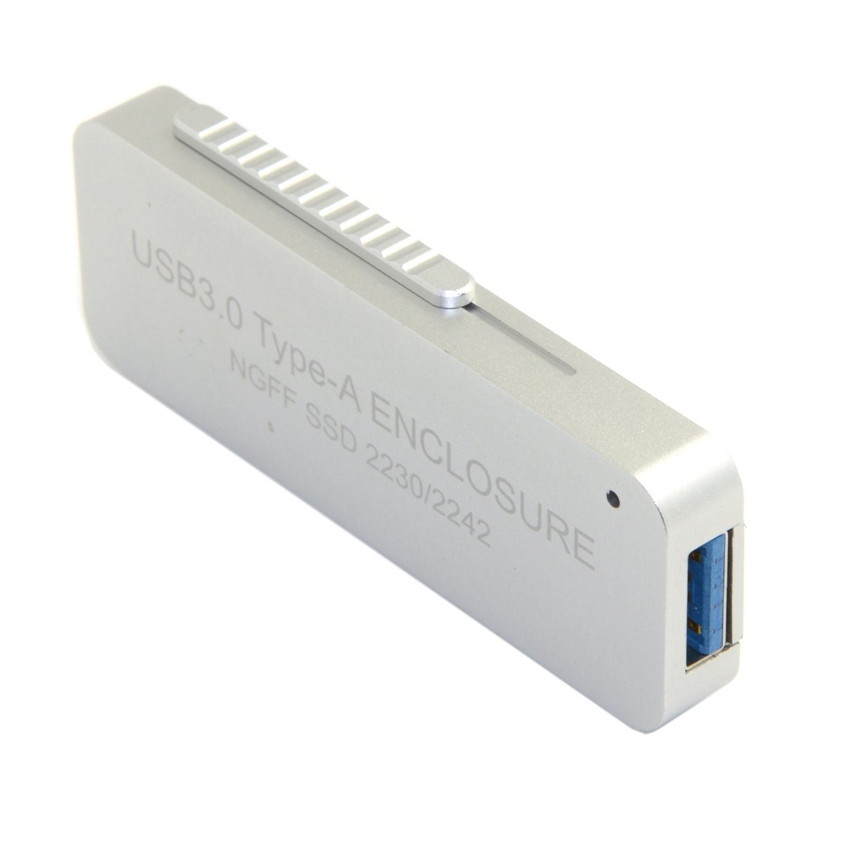 CY NGFF M.2 B-key or B/M-key SSD to USB 3.0 External PCBA Conveter Retractable Adapter Card Flash Disk Type Silver Color