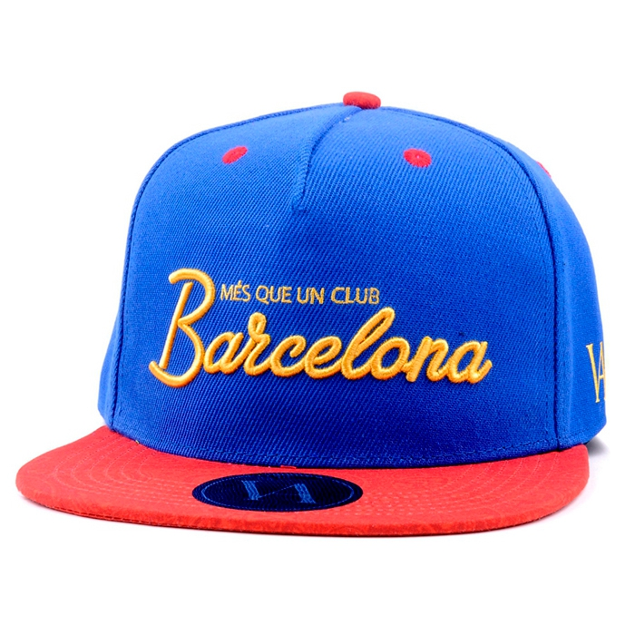 Flat bill custom 3D embroidery 5 panel snapback cap