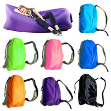 Inflatable sleeping bag air inflate sofa air space bed for travel camping