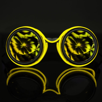 new style kaleidoscope glasses for party kaleidoscope lens glow sunglasses