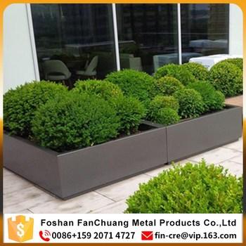 Stainless Steel Big Outdoor Metal Rectangular Flower Planter Pots