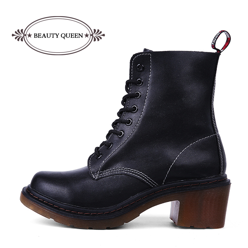 78aee6ec687f Get Quotations · 2015 Winter Women Military Combat Boots Lace Up Martin  Boots Punk Women Ankle Boots Motorcycle Work