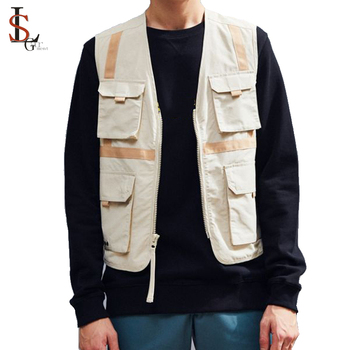 High Quality Hot Sale Wholesale Multi Pocket Vest Custom Cheap Waistcoat For Men