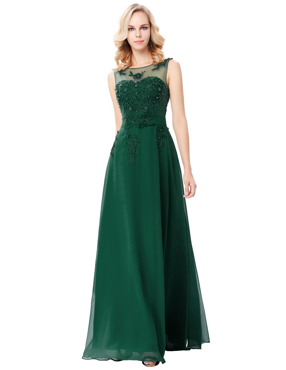 Grace Karin Sleeveless V-back Dark Green Chiffon Prom Dress Cl007555 ...