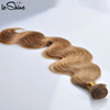 Good Hand Feeling Double Drawn Remy Braidding Human Hair Ombre Light Brown Top Quality