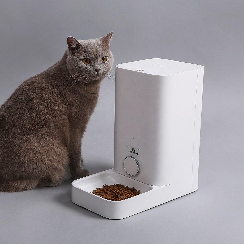 Smart pet cat safe automatic feeder water bowl with four sensor and fresh lock