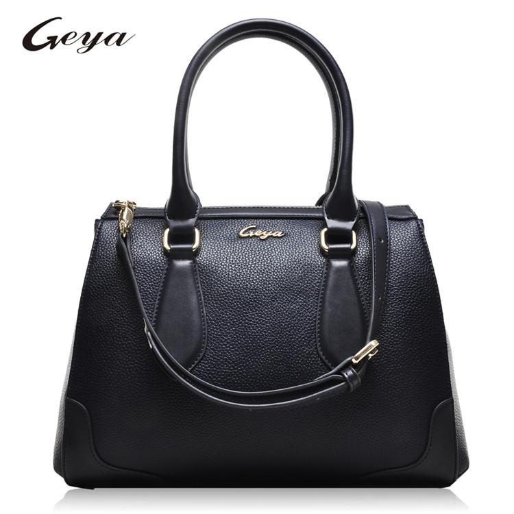 f963166d0d628 2018 أزياء سيدة حقيبة اليد حمل حقيبة يد ريال جلد طبيعي أسود للنساء ...