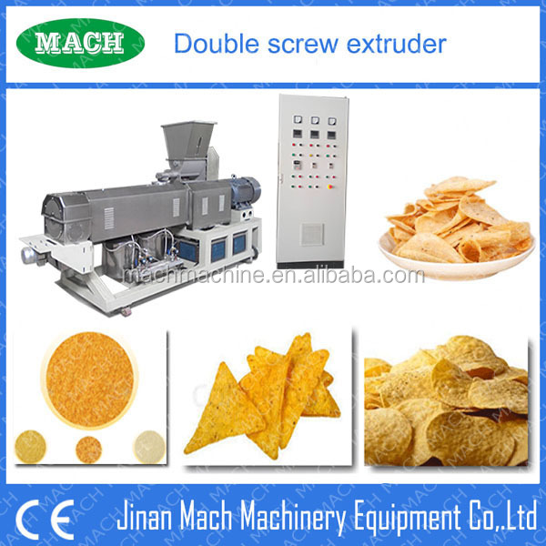 Nachos Chips Double Screw Extruder